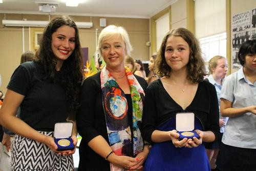 students with medals