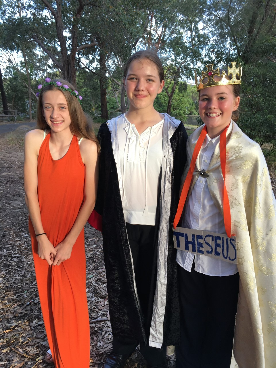 Pupils in costume